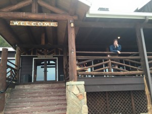 The Kilted Man at Marys Lake Lodge